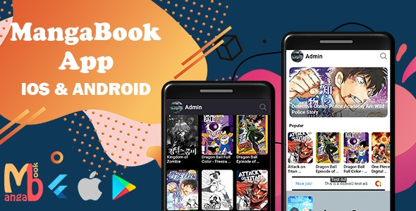 MangaBook - Flutter Manga App with Admin Panel - CodeCanyon Item for Sale