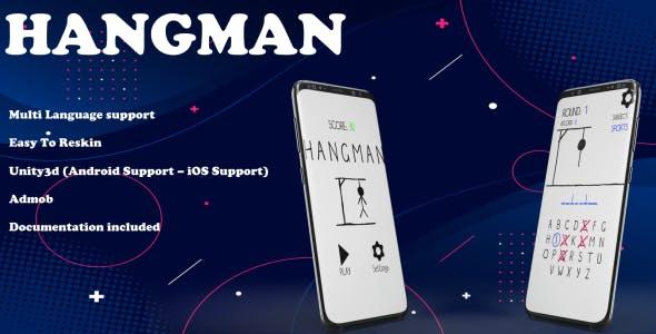 Hangman (Unity Game+Admob+iOS+Android)