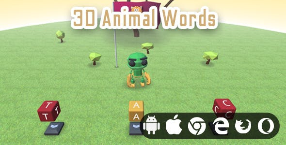 3D Animal Words - Realistic Educational Game