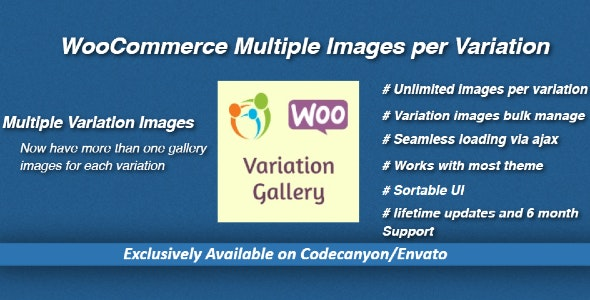 WooCommerce Multiple Images per Variation - CodeCanyon Item for Sale
