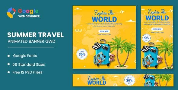 Traving World Animated Banner Google Web Designer - CodeCanyon Item for Sale