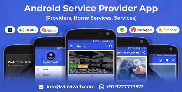 Android Service Provider(Providers,Home Services,Services)