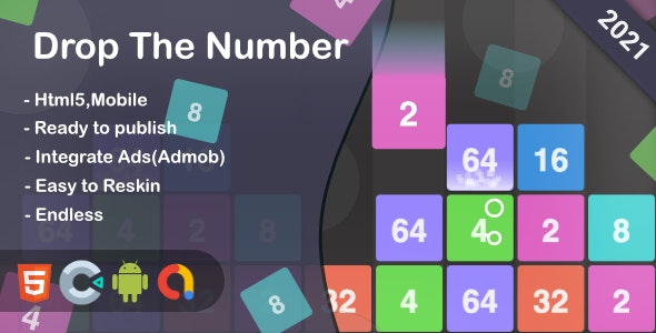Drop The Number (Html5 + Construct 3 +Mobile) - CodeCanyon Item for Sale