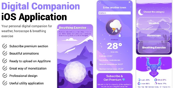 Digital Companion iOS Application - CodeCanyon Item for Sale