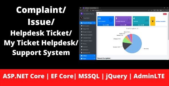 Complaint   Issue   Helpdesk Ticket   My Ticket HelpDesk Support System   ASP.NET Core   EF Core