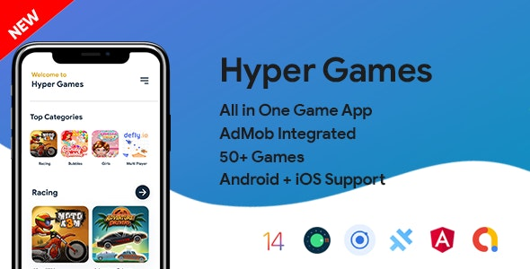Hyper Games v1.0 – All in One Game App | AdMob | Unlimited Games | Android + iOS