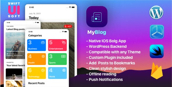 MyBlog - Universal IOS Native App - Compatible with any WordPress Blog Theme