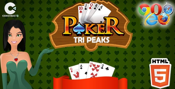 Tri Peaks Poker HTML5 Game - Construct 3 (.c3p) - CodeCanyon Item for Sale