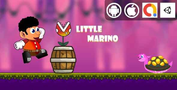 Little Marino Unity Platformer Game With Admob For Android and iOS