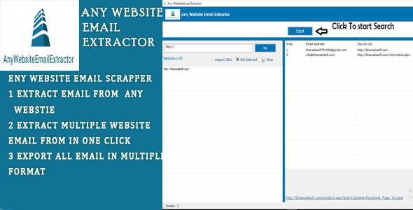 Any Website Email Extractor Software