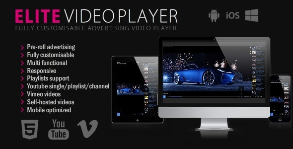 Elite Video Player - jQuery Plugin - CodeCanyon Item for Sale
