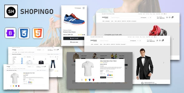 Shopingo - eCommerce HTML Template - CodeCanyon Item for Sale