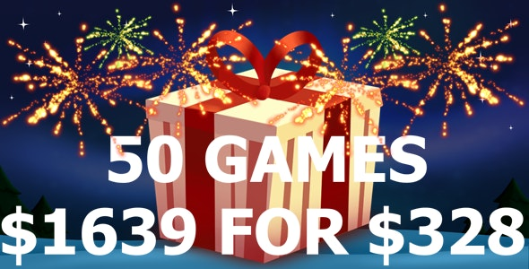 50 Games Bundle $1639 For $328 - CodeCanyon Item for Sale