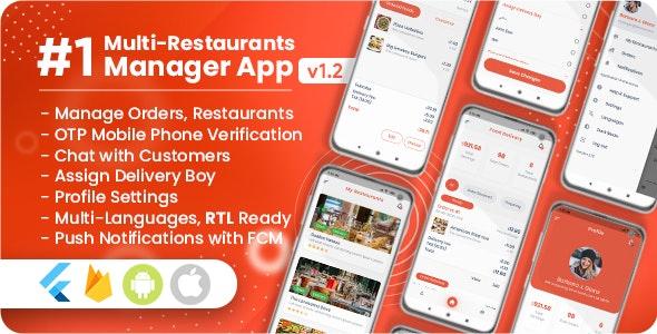 Manager / Owner for Multi-Restaurants Flutter App v1.2.0