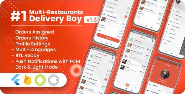 Delivery Boy For Multi-Restaurants Flutter App v1.3.0