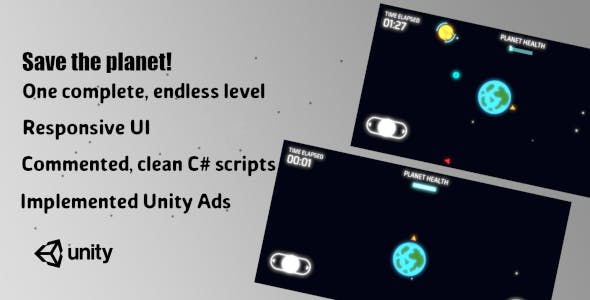 Save the planet - Complete Unity Game