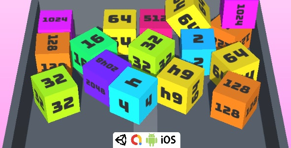 2048 Chain Cube Merge - Complete Unity Game For Android & iOS - CodeCanyon Item for Sale
