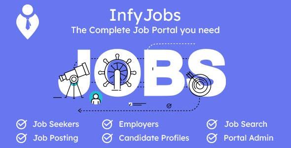 InfyJobs - Laravel Job Portal Script with Website