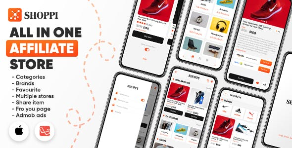Shoppi: All in one affiliate store with admin panel (iOS/Laravel)