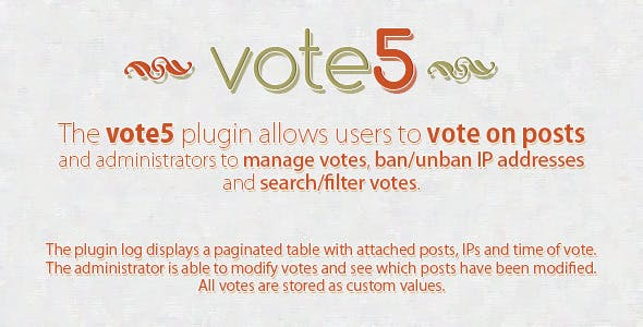 vote5 - WordPress Voting Plugin