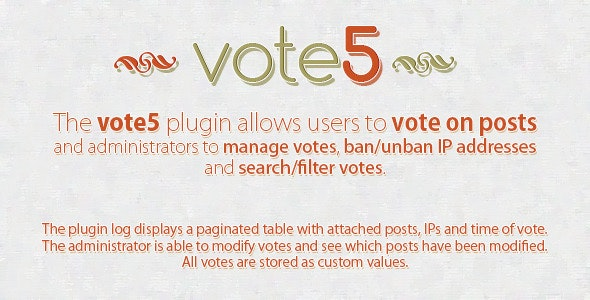 vote5 - WordPress Voting Plugin - CodeCanyon Item for Sale