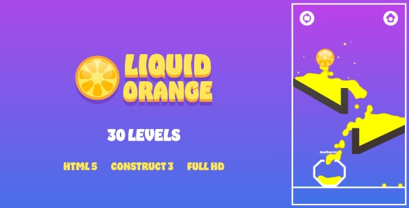 Liquid Orange - HTML5 Game (Construct3) - CodeCanyon Item for Sale