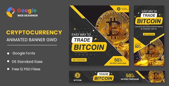 Cryptocurrency Bitcoin Animated Banner Google Web Designer