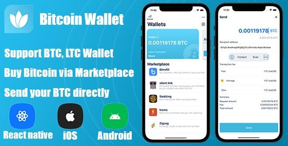 React Native - Bitcoin Wallet - CodeCanyon Item for Sale
