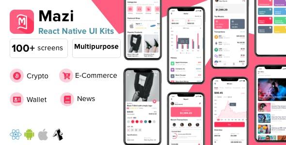 Mazi - mobile React Native UI KIT Elements