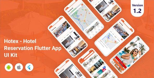 Hotex - Hotel Reservation Flutter App UI Kit