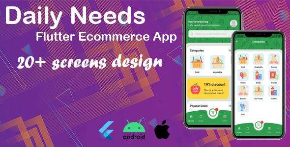 Daily Needs - Flutter eCommerce App template