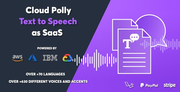 Cloud Polly - Ultimate Text to Speech as SaaS