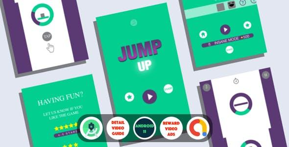 Jump Up : (Android Studio+Admob+Reward Video+Inapp+Leaderboard+ready to publish)