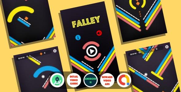 Falley : (Android Studio+Admob+Reward Video+Inapp+Leaderboard+ready to publish)