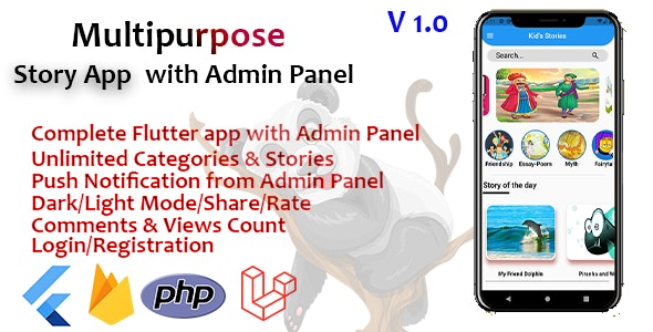 Multipurpose Flutter story app with Admin Panel - CodeCanyon Item for Sale
