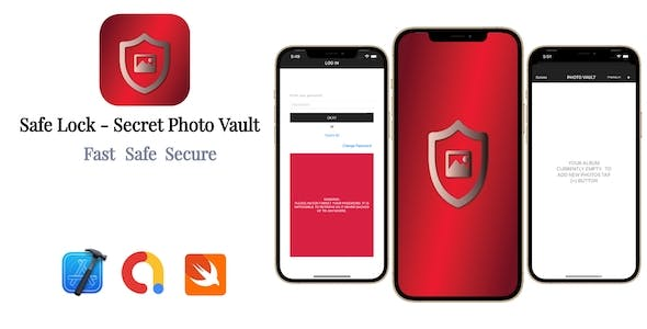 Safe Lock - Secret Photo Vault | Google AdMob | In App Purchase | iOS Source Code