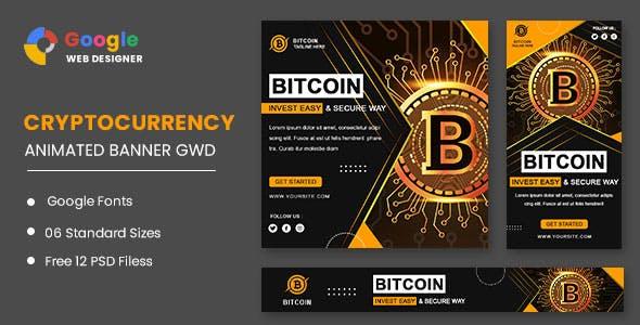 Bitcoin Set Animated Banner Google Web Designer