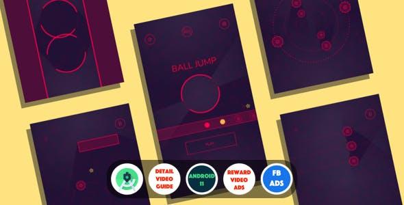 Ball Jump : (Android Studio+Facebook Ads+Reward Video Ad+Multiple Char+Inapp+Leaderboards+Onesignal)