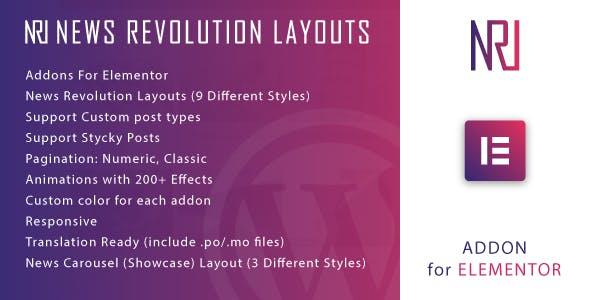 News Revolution Layouts for Elementor WordPress Plugin