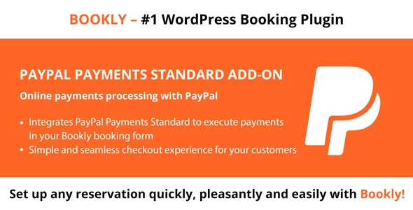 Bookly PayPal Payments Standard (Add-on) - CodeCanyon Item for Sale