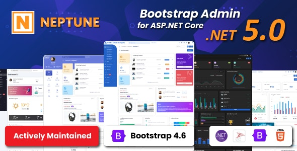 Neptune Admin Template for Asp.Net Core - CodeCanyon Item for Sale