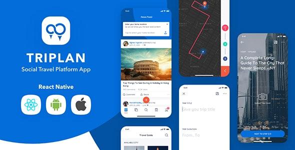 Triplan - Social Travel React Native Template - CodeCanyon Item for Sale