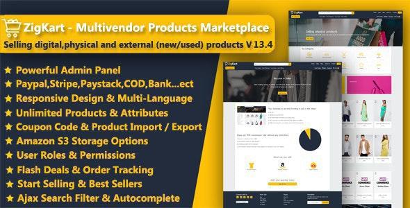 ZigKart - Single Vendor or Multi Vendor Products Marketplace - CodeCanyon Item for Sale