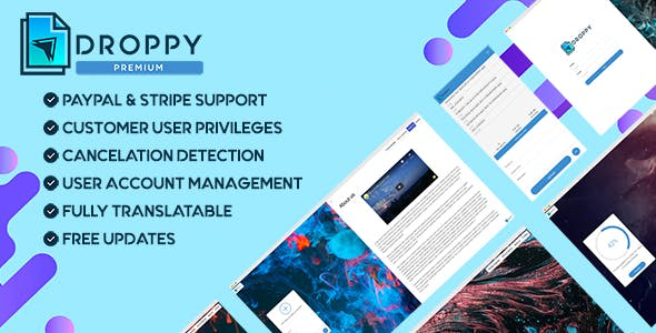 Premium subscription - Droppy online file transfer and sharing