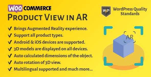 WooCommerce Product View in AR (Augmented Reality) | 3D Product View