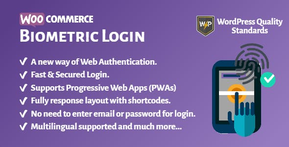 WooCommerce Biometric Login | Fingerprint | Web Authentication (WebAuthn)