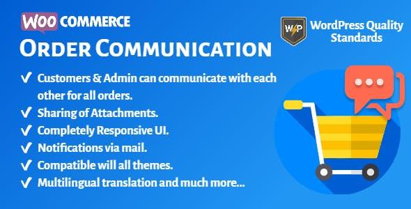 WooCommerce Order Communication | Customer and Admin Conversation