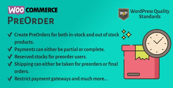 WooCommerce Pre Order | Pre Booking | Pre Release Purchase - CodeCanyon Item for Sale