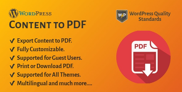 WordPress Content to PDF   Blog to PDF - CodeCanyon Item for Sale
