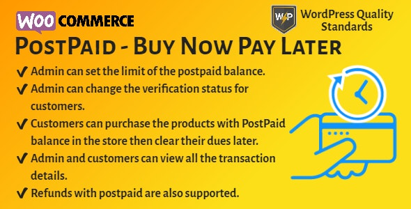 WooCommerce PostPaid - Buy Now Pay Later - CodeCanyon Item for Sale